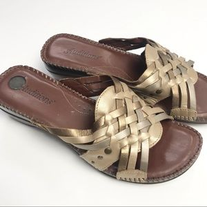 Auditions Leather Woven Sandals Size 7.5